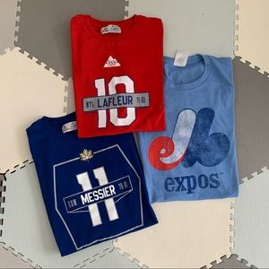 Bundle of 3 sports t-shirts - Father's Day 🎁
